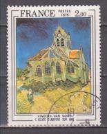 """FRANCE / 1979 / Y&T N° 2054 : """"Eglise D'Auvers Sur Oise"""" (Vincent Van Gogh) - Choisi - Cachet Rond - Usados"""