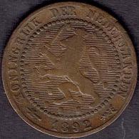 Netherlands, 1 Cent 1892 - [ 3] 1815-… : Koninkrijk Der Nederlanden