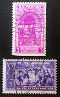 WASHINGTON PRETANT SERMENT & BAS-BALL 1939 - OBLITERES - YT 406/07 - MI 449 + 451 - Used Stamps