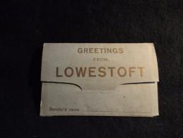 Greetings From Lowestoft. Dépliant Ancien De 12 Vues . Voir 4 Scans. - Angleterre