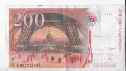 200 Francs - Billet -  Banque De France - 1999 - Gustave Eiffel - 200 F 1995-1999 ''Eiffel''