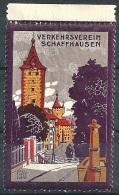 """Vignette  """"Verkehrsverein Schaffhausen""""         Ca. 1920 - Schweiz"""