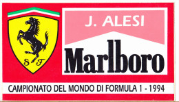 ADESIVO - STICKER - JEAN ALESI - CAMPIONATO DEL MONDO DI FORMULA 1 1994 - Stickers