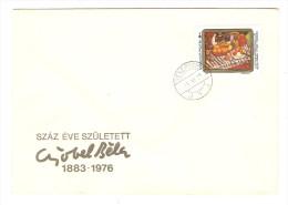 HONGRIE HUNGARY FDC PREMIER JOUR VESZPREM 22/11/1984 SZAZ EVE SZULETETT 1883 1976 - FDC