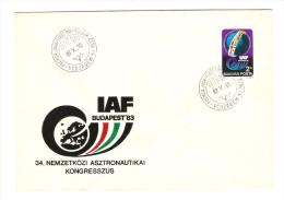 HONGRIE HUNGARY FDC PREMIER JOUR VESZPREM 10/10/1983 IAF BUDAPEST 34 NEMZETKOZI ASZTRONAUTIKAI KONGRESSZUS - FDC