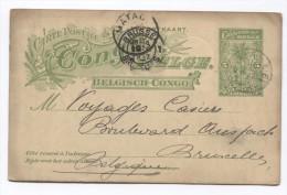 Belgisch Congo Belge Entier CP 5 C  C.Popokabara En 1913 Via Matadi V.Bruxelles C.d'arrivée PR2833 - Entiers Postaux