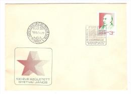 HONGRIE HUNGARY FDC PREMIER JOUR BUDAPEST 7/4/1989 100 EVE SZULETETT GYETVAI JANOS - FDC