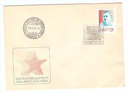 HONGRIE HUNGARY FDC PREMIER JOUR BUDAPEST 28/2/1989 100 EVE SZULETETT VALLISCH KALMAN - FDC