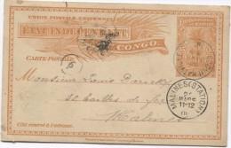 Belgisch Congo Belge Entier 15 C C.Coquihatville 1906 écrit De Bala... Le 10/2/1906 V.Malines C.d'arrivée PR2835 - Entiers Postaux
