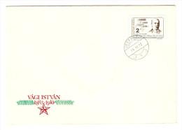 HONGRIE HUNGARY FDC PREMIER JOUR VESZPREM 22/11/1984 VAGI ISTVAN 1883 1940 - FDC