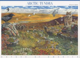 USA (2003) Yv. 3484/93  /  Nature Of America #5 - Fauna - Arctic Tundra - Biodiversity - Wolf - Birds - Bear - Willow - Briefmarken