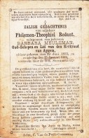 Redant Philemon,Theophiel - Meuleman Barbara ° Aaigem 1833 + 1884 Aldaar   Lot  15035 - Devotion Images