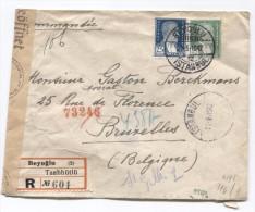Turquie-Turkey Registered Cover Beyoglu 21/5/1942 German Censor( Wien) To Brussels Belgium PR2840 - Lettres & Documents