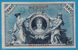 DEUTSCHES REICH 100 MARK 7.02.1908  Alpha 4727982E  P#33a - [ 2] 1871-1918 : Empire Allemand