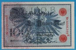 DEUTSCHES REICH 100 MARK 7.02.1908  Alpha 3606398E  P#33a - [ 2] 1871-1918 : German Empire