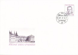 K7041 - Czech Rep. (2013) 110 00 Praha 1 (stamp: President Milos Zeman) Prague Castle - First Day Cover - Famous People