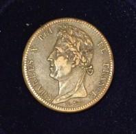 COLONIES FRANÇAISES - ¨Pour La Guyane 10 CENT. Charles X - 1828 A - Colonies