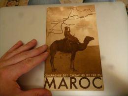CB9 LC146 Dépliant Touristique Compagnie Des Chemins De Fer Du Maroc 32 Pages Années 50 - Bateaux