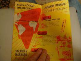 CB9 LC146 Dépliant COmpagnie De Navigation Paquet 1955 Vacances Marhaba - Bateaux