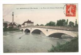CPA 74 BONNEVILLE Le Pont Et La Colonne Charles Felix - Bonneville