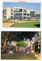 LOT DE 2 CARTES D  ANDERNOS LA RUE PIETONNE + HOTEL RESIDENCE MER ET GOLF   ****   A SAISIR   **** - Andernos-les-Bains