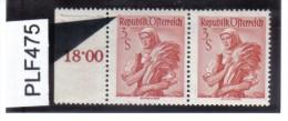 PLF475 ÖSTERREICH 1948/58 Michl 922  PLATTENFEHLER  FARBUNKT  Im PAAR Mit Normaler MARKE  Siehe ABBILDUNG - Abarten & Kuriositäten