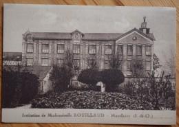 91 : Monthléry - Institution De Mademoiselle Rouillaud - Dos Imprimé : Carte Publicitaire - (n°5795) - Montlhery