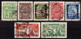 LITAUEN 1934 - MiNr: 394-403 Lot 7x  Used - Litauen