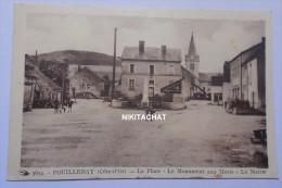 Pouillenay-La Place-Lemonument Aux Morts-La Mairie - Autres Communes