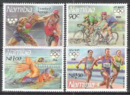 Namibia Südwestafrika SWA 1996 Sport Spiele Olympia Olympics Atlanta Radfahren Boxen Schwimmen Laufen, Mi. 815-8 ** - Namibia (1990- ...)