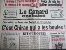 Le Canard Enchainé N° 4495 - 20/12/06 : Arbre De Noël, C'est Chirac Qui A Les Boules - Politique