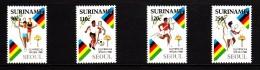 Surinam MNH Scott #812-#815 Set Of 4 1988 Summer Olympics, Seoul: Relay, Soccer, Pole Vault, Tennis - Surinam