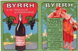 """Piccolo  Calendario Pubblicitario  """" Vini BYRRH """" 1922 - Formato Piccolo : 1921-40"""