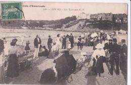 Carte 1909 DINARD / Les TERRASSES (animées) - Dinard
