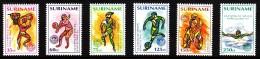 Surinam MNH Scott #919-#924 Set Of 6 1992 Olympics Barcelona: Basketball. Volleyball, Track, Soccer, Cycling, Swimming - Surinam