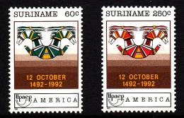 Surinam MNH Scott #932-#933 Set Of 2 Discovery Of America, 500th Anniversary - Surinam