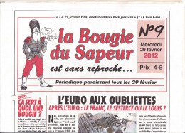 La Bougie Du Sapeur - N° 9 Du 29 Février 2012. Supplément Exceptionnel : La Bougie Du Sapeur Coquine N° 1 - Journal Neuf - Other
