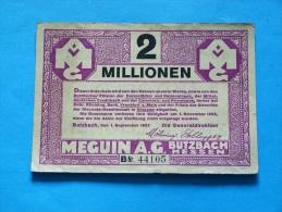 GERMANY  2 MILLIONEN  MARK   1923 - [ 3] 1918-1933 : Weimar Republic