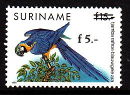 Surinam MNH Scott #964 Surcharge 5g On 15g Parrot - Surinam