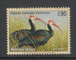 TIMBRE NEUF DES NATIONS UNIES GENEVE - IBIS DU CAP (GERONTICUS CALVUS) N° Y&T 479 - Storchenvögel