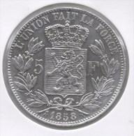 LEOPOLD I * 5 Frank 1858 * Prachtig * Nr 8647 - 11. 5 Francs
