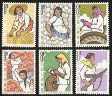 China (PRC),  Scott 2016 # 750-755,  Issued 1964,  Set Of 6,  MNH,  Cat $ 33.00,   Women - 1949 - ... People's Republic