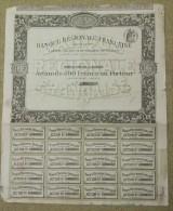 ACTION DE 500 FRANCS BANQUE REGIONALE FRANCAISE 1913 - Banca & Assicurazione