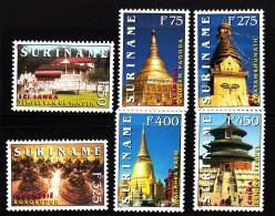 Surinam MNH Scott #1141-#1147 Set Of 6 Temples - Surinam