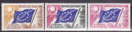 FRANCE 1963. Mi 7/9,  MNH (**) - Service