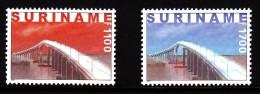 Surinam MNH Scott #1222-#1223 Set Of 2 Surinam River Bridge - Surinam