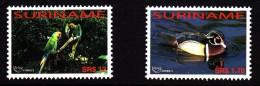 Surinam MNH Scott #1316-#1317 Set Of 2 America Issue: Duck, Parrots - Surinam