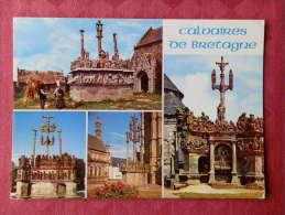 Région Bretagne ;  Cpm Calvaire De BRETAGNE , Multivues , Tronoen , St Thégonnec Et Guimiliau(535) - Bretagne