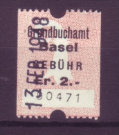 915 - BASEL Fiskalmarken - Fiscaux