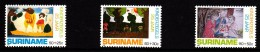 Surinam MNH Scott #B368-#B370 Set Of 3 Children's Drawings - Easter - Surinam